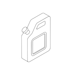 Jerrycan icon isometric 3d style vector