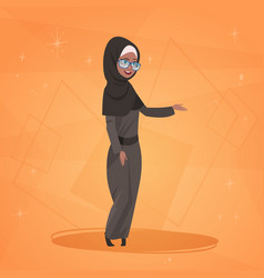 Arab woman cartoon character in traditional vector