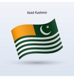 Azad Kashmir flag waving form vector image vector image