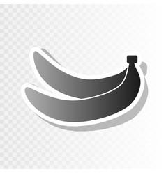 Banana simple sign new year blackish icon vector