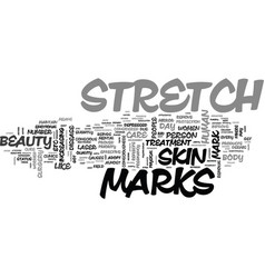Beauty consciousness and stretch marks text word vector
