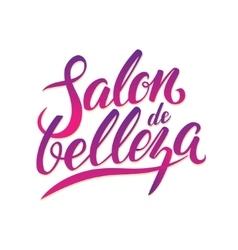 Calligraphy Logo Beauty Salon vector image