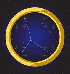 Cancer star horoscope zodiac in fish eye vector