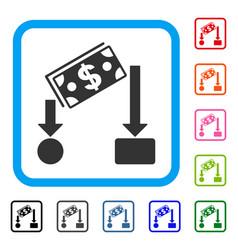 Cash flow framed icon vector