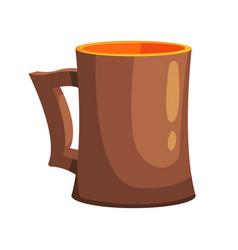 Ceramic beer pint mug part of russian steam house vector
