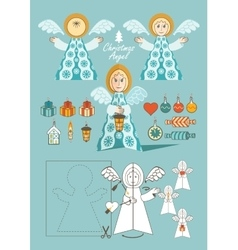 Christmas Angel toy vector image vector image