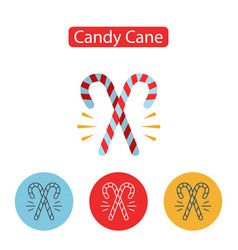christmas sweet candy cane vector image vector image