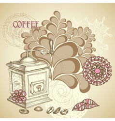 Coffee shop flyer vector image