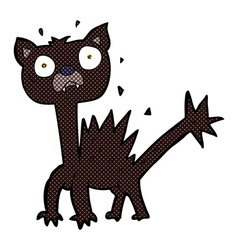 Comic cartoon scared cat vector
