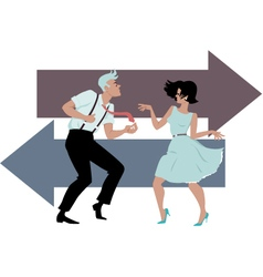 Dancing the Twist vector image