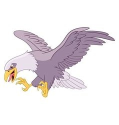 Dangerous cartoon eagle vector