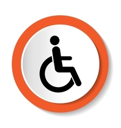 disabled icon sign isolated on white vector image