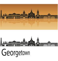 georgetown skyline vector image vector image