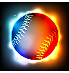 Glowing baseball vector