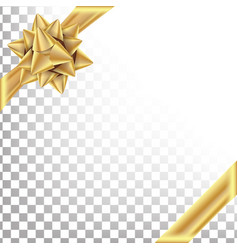 gold ribbon with bow space for text gift vector image
