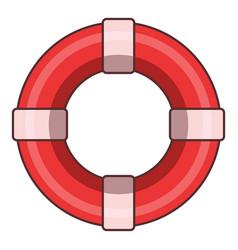 Lifeline icon cartoon style vector