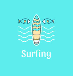 Logo template surfing vector