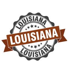 Louisiana round ribbon seal vector