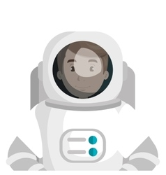 Male astronaut cartoon colorful icon vector image vector image