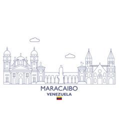 maracaibo city skyline vector image vector image