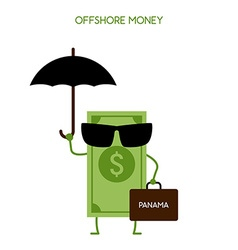 Money hidden in an offshore zone vector