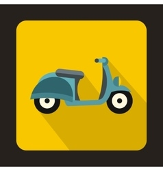 Motorbike icon in flat style vector image vector image