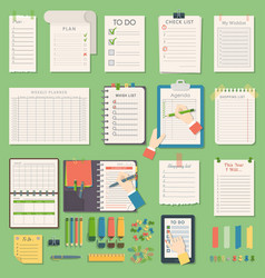 Notebook agenda business planner note vector