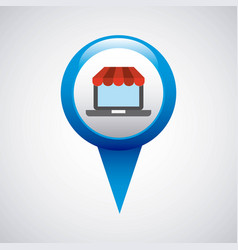 pin pointer location with business icon vector image