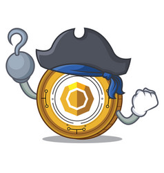 Pirate komodo coin character cartoon vector