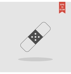 Plaster icon Flat design style vector image vector image