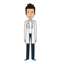 Professional man of health with stethoscope vector