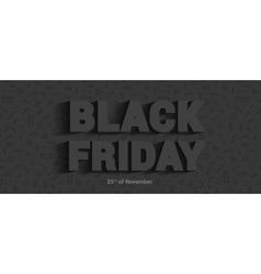 Restrained elegance banner for sales on black vector