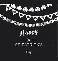 Saint patrick banner over the chalkboard design vector