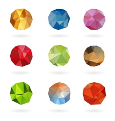 Set from triangle colored abstract in a circle vector image