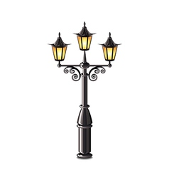 street lantern isolated vector image vector image
