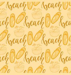 Summer seamless pattern with flip flops for vector
