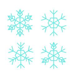 thin snowflake set vector image
