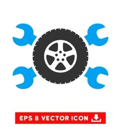 Tire service wrenches eps icon vector
