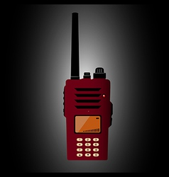 Walkie talkie vector image vector image
