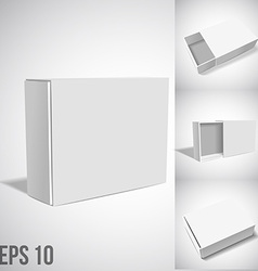 White Package Box SET vector image