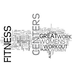 Womens fitness centers text word cloud concept vector