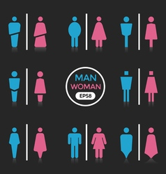 Man and Woman sign vector image