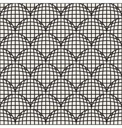Seamless Black And White Retro Geometric vector image