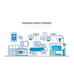 Education learning technologies online courses vector