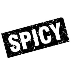Square grunge black spicy stamp vector
