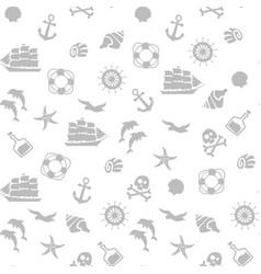 Seamless pirate monochrome pattern vector
