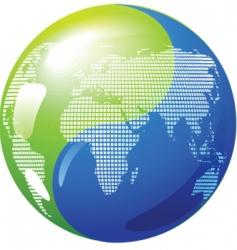 yin yang globe vector image