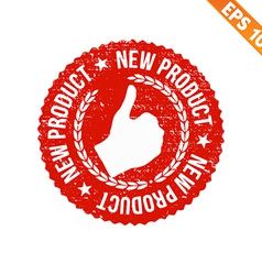 Rubber stamp new product - - eps10 vector
