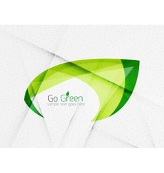Green eco unusual background concept vector image