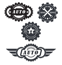 auto repair logos vector image